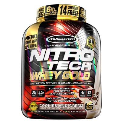 NITRO TECH WHEY GOLD 2,7  kg.